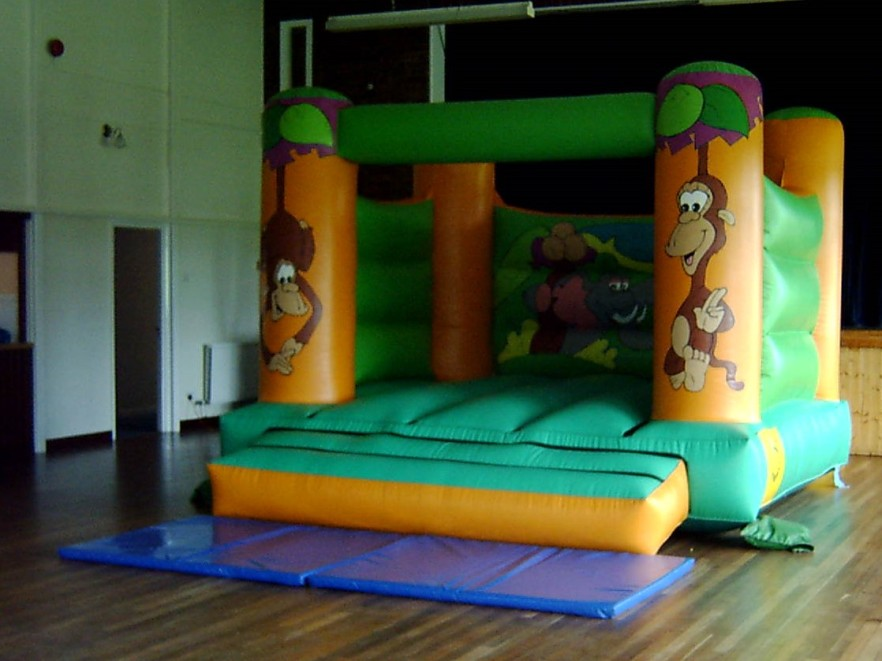 Children's bouncy castle fits easily into the hall